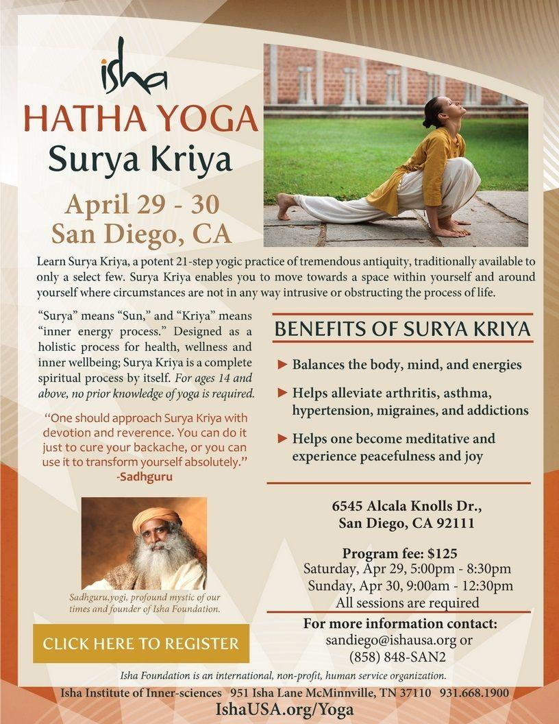 Surya Kriya: Fire up the Sun Within (Isha Hatha Yoga)